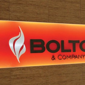 Bolton custom made corporate entrance signage