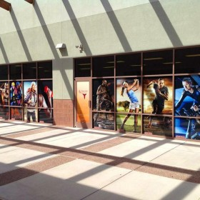 Custom printed HDClear decorative window films using color and white inks