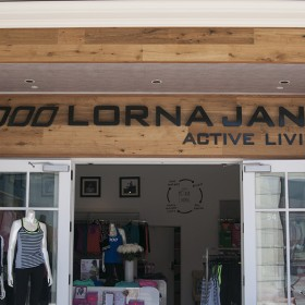 Lorna Jane non-illuminated custom storefront sign