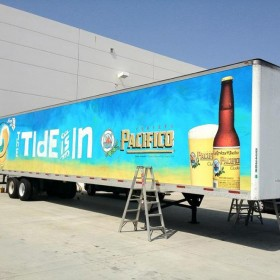 Large format fleet graphics production and installation