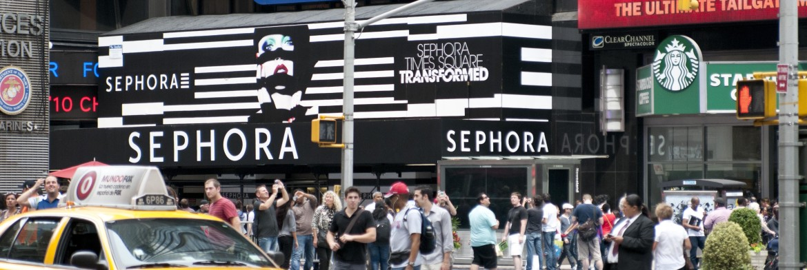 Retail Barricade Graphics for Sephora