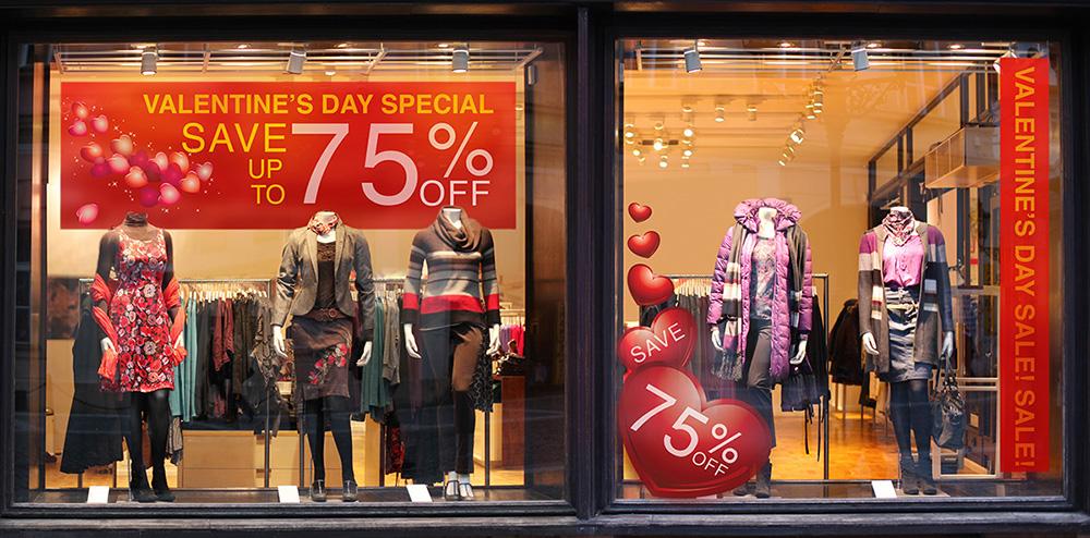Valentines Storefront Graphics
