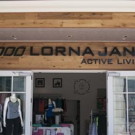 Lorna Jane non-illuminated custom storefront sign