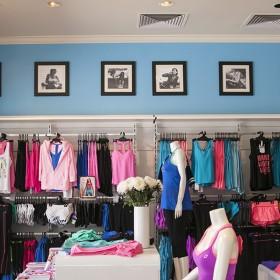 Lorna Jane branded retail store interior