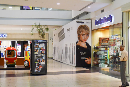 stunning toni&guy retail barricade graphics by agretail