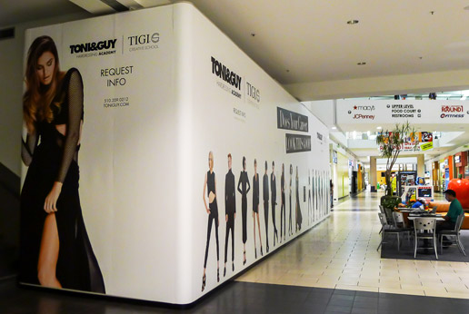 retail barricade graphic printing and installation by agretail
