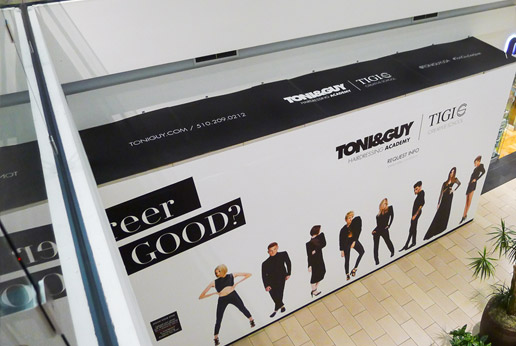 Let your customer know about your new store with barricade graphics from agretail