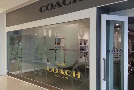 coach new york storefront graphics