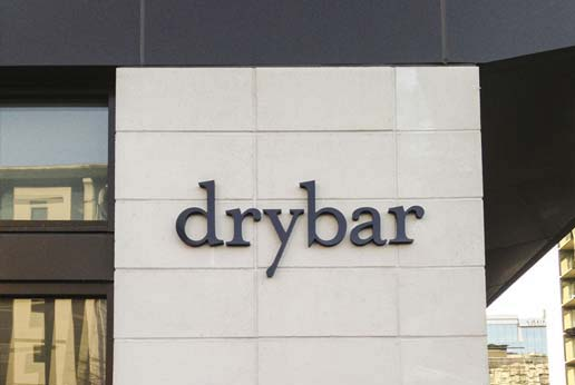 dry bar retail exterior signage
