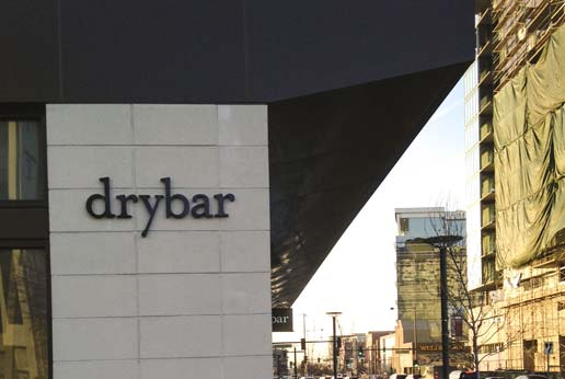 pin letter signage for Dry Bar