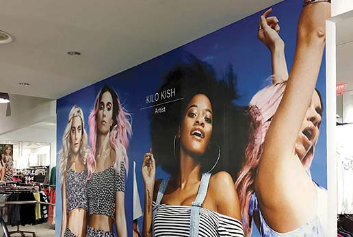 H&M retail interior wall graphics