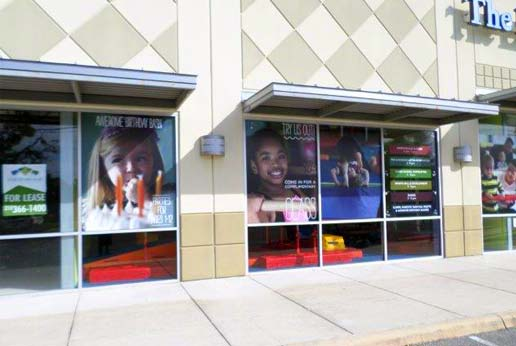 the little gym hdclear custom printed window graphics