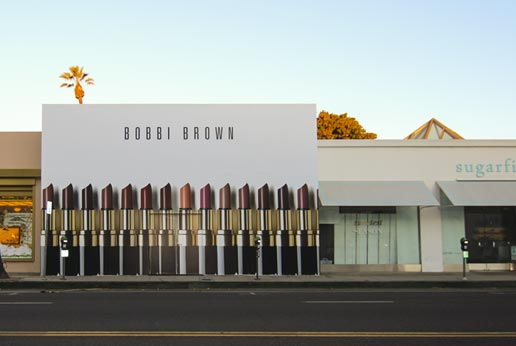 bobbi brown retail barricade in beverly hills