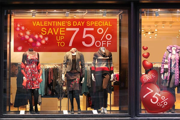 valentines retail graphics retail promotions
