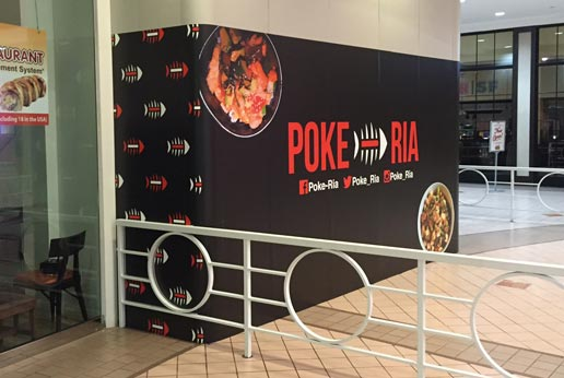 Poke-Ria Shopping Mall Location Barricade Graphics