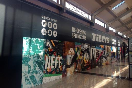 tillys retail barricade graphics