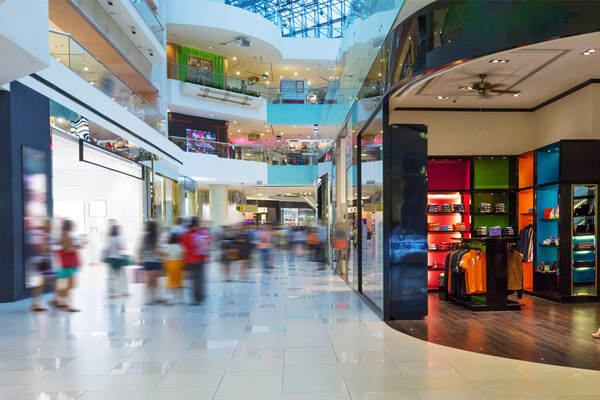 retail graphics for shopping mall stores