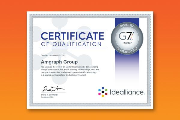AGRetail G7 Master Printer Certification