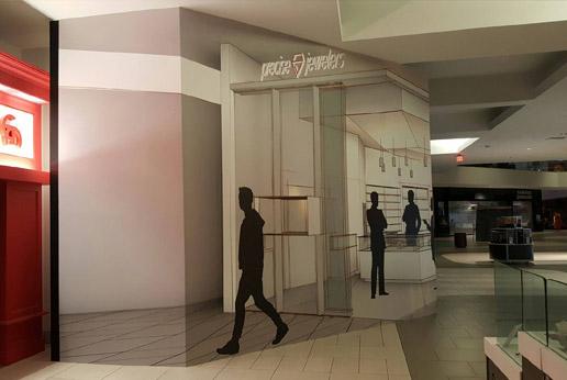 retail barricade graphic installation